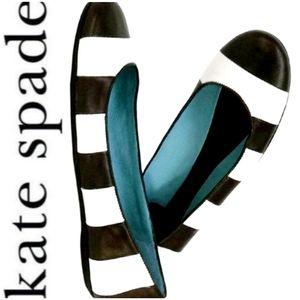 KATE SPADE Stripe Ballerina Flats LIKE NEW